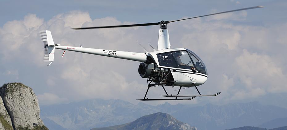 Vol d'initiation Hélicoptère en Robinson R22